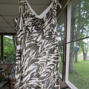Talbots 6P Sleeveless Animal Print Dress